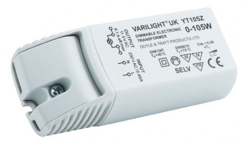 Varilight YT105Z Lighting Transformer 0-105VA Dimmable Low Voltage (with Terminals)